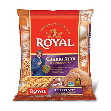 Royal Chakki Atta Whole Wheat Flour (20 lb.)