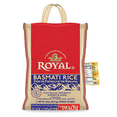 Royal Basmati Rice - 20 lbs.
