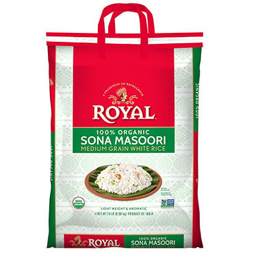 Royal Sona Masoori Organic Rice - 20 lb.