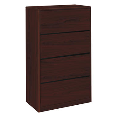 HON 10700 Series 4 Drawer Lateral File Cabinet, Mahogany (Letter/Legal,