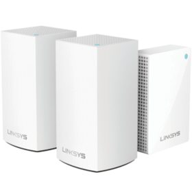 Linksys Velop Intelligent Mesh Wi-Fi System, 3-Pack: 2 Dual-Band AC3600 Nodes and 1 Plug-in Node - Sam