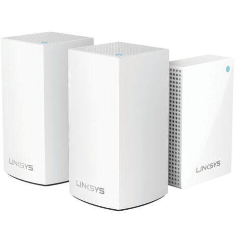 Linksys Velop Intelligent Mesh Wi-Fi System, 2 Dual-Band AC3600 Nodes and 1 Plug-in Node
