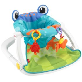 Fisher-Price Sit-Me-Up Floor Seat, Frog