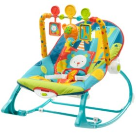 Fisher-Price Infant-to-Toddler Baby Rocker, Safari