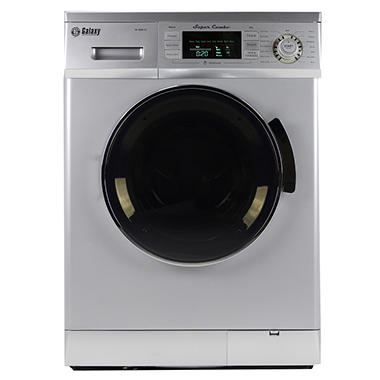 Galaxy 13 lb. Convertible Washer/Dryer Combo - Silver