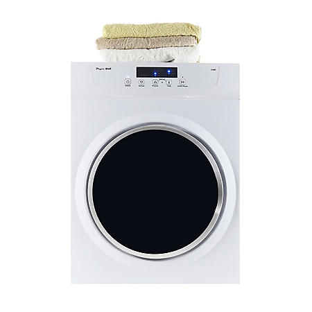 3.5 cu.ft. Compact Electric Standard Dryer with Refresh function, Sensor Dry, Wrinkle guard, White - GD860V