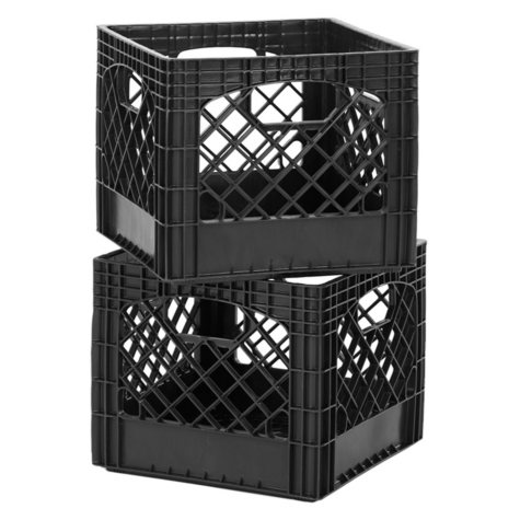 Authentic Milk Crates, 2 Pack