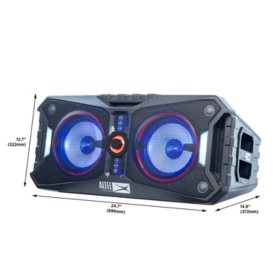 Altec Lansing Xpedition 8 Portable, Waterproof, Floating Bluetooth Speaker with Multi-Colored LED Light Show and Stereo Pairing