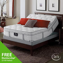 Serta Perfect Sleeper Ridgemont Luxury Super Pillowtop Mattress and Adjustable Foundation Set (Various Sizes)