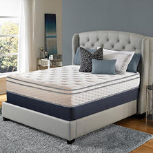 Serta Perfect Sleeper Woodbriar II Cushion Firm Eurotop California King Mattress Set