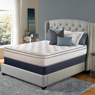serta perfect sleeper woodbriar ii cushion firm eurotop queen mattress set sams club - Serta Bed Frame
