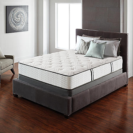 Serta Lux Suite Cushion Firm Queen Mattress Set