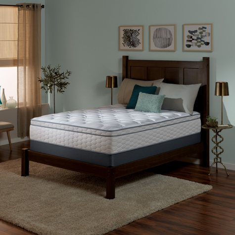 Serta Perfect Sleeper Wynstone II Cushion Firm Eurotop Split Queen Mattress Set