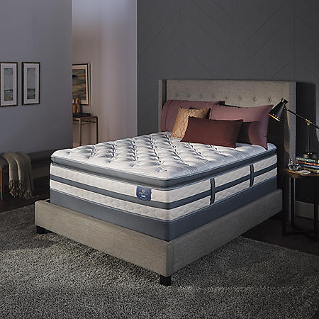 Serta Perfect Sleeper Luxury Hybrid Glenmoor Firm Pillow Top Split Queen Mattress Set