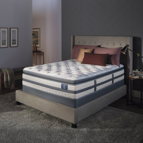 Serta Perfect Sleeper Luxury Hybrid Glenmoor Firm Pillow Top Queen Mattress Set