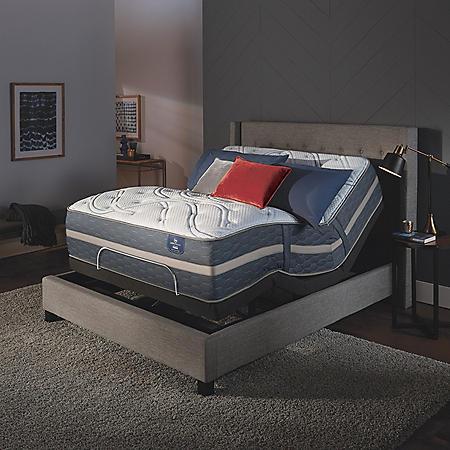 Serta Perfect Sleeper Luxury Hybrid Blakefield Plush Mattress and Serta Motion Essentials Adjustable Foundation Set (Various Sizes)