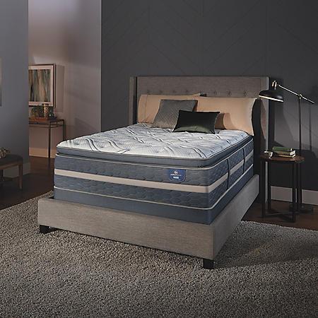 Serta Perfect Sleeper Luxury Hybrid Elmridge Super Pillowtop Queen Mattress Set