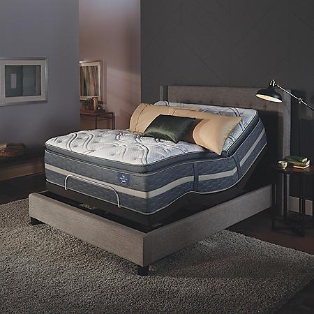 Serta Perfect Sleeper Luxury Hybrid Elmridge Super Pillowtop Mattress and Serta Motion Essentials Adjustable Foundation Set (Various Sizes)