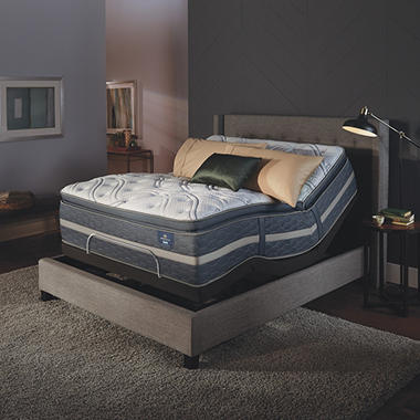 Serta Perfect Sleeper Luxury Hybrid Elmridge Super Pillowtop Mattress and Serta Motion Essentials Adjustable Foundation Set (Various Sizes)