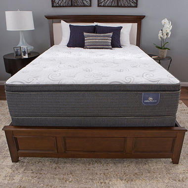 Serta Perfect Sleeper Hillgate 3 Series Cushion Firm Pillow Top Queen Mattress Set