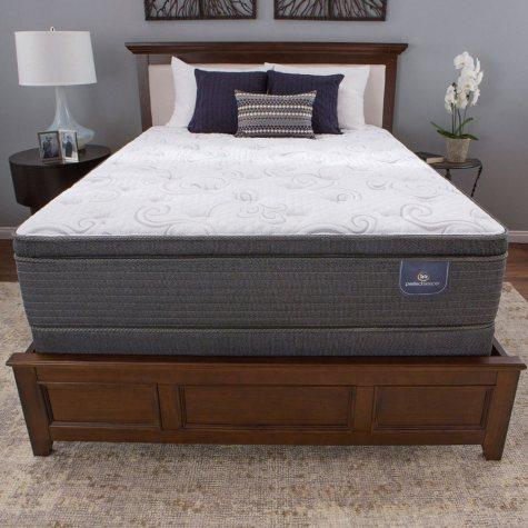 Serta Perfect Sleeper Hillgate II Cushion Firm Super Pillow Top Mattress Set (Club Pickup)