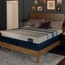 Serta iComfort Blue Max 3000 Elite Plush Gel Memory Foam Queen Mattress Set