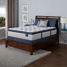 Serta Castleview Cushion Firm Euro Pillowtop Twin Mattress Set