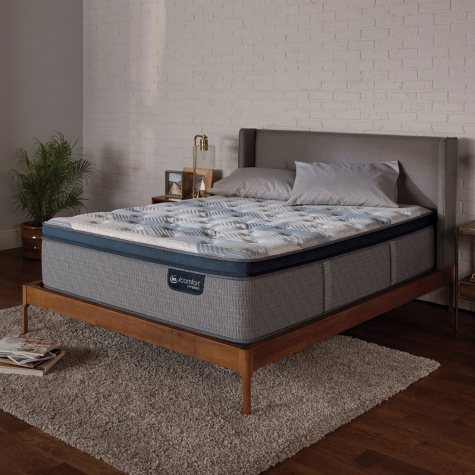 Serta iComfort Blue Fusion 300 Plush Pillowtop Hybrid Twin Mattress