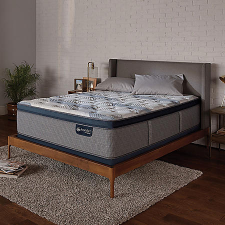 Serta iComfort Blue Fusion 300 Plush Pillowtop Hybrid Queen Mattress Set