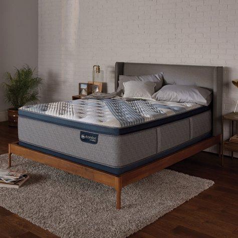 Serta iComfort Blue Fusion 1000 Luxury Plush Pillowtop Hybrid Split Queen Mattress Set
