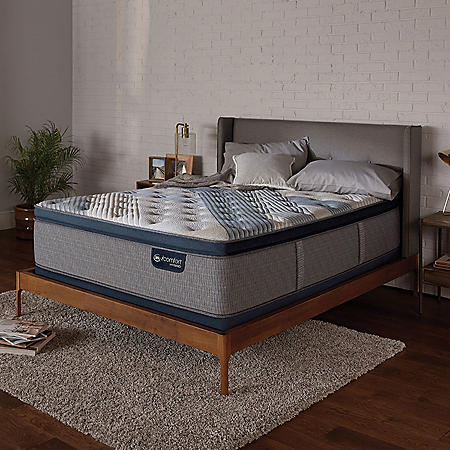 Serta iComfort Blue Fusion 1000 Luxury Firm Pillowtop Hybrid Queen Mattress Set