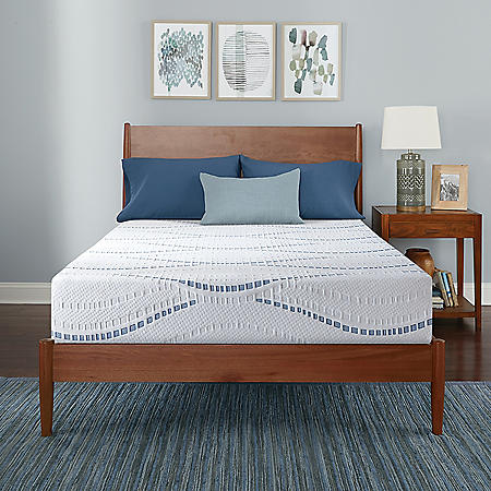 "Serta SleepToGo 10"" Gel Memory Foam Luxury Queen Mattress"
