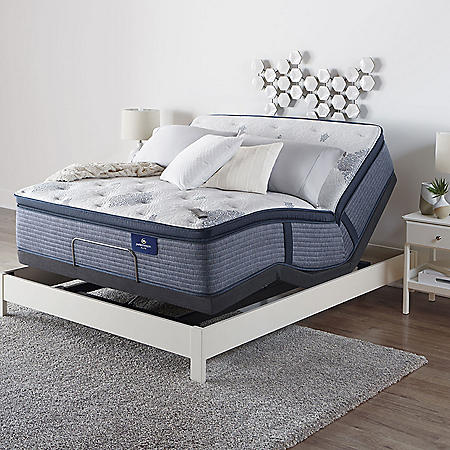 Serta Perfect Sleeper Elite Eldenwood King Pillowtop and Motion Essentials IV Adjustable Base