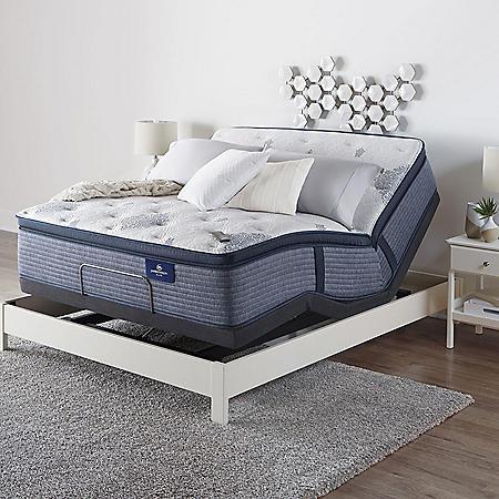 Serta Perfect Sleeper Elite Eldenwood Twin XL Pillowtop and Motion Essentials IV Adjustable Base