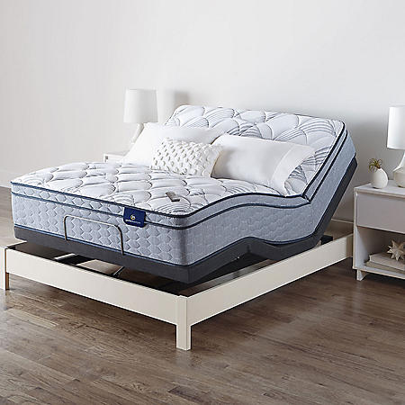 Serta Perfect Sleeper Ashbrook Eurotop Full Mattress and Motion Essentials IV Adjustable Base