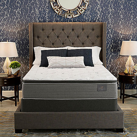 Serta Bellagio at Home Queen Cushion Firm Pillowtop Mattress Set