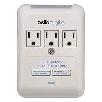 Bell'O 105923 Digital 3-Outlet In Wall Appliance Surge Protector
