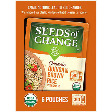 Seeds of Change Certified Organic Quinoa and Brown Rice with Garlic (8.5 oz., 6 pk.)