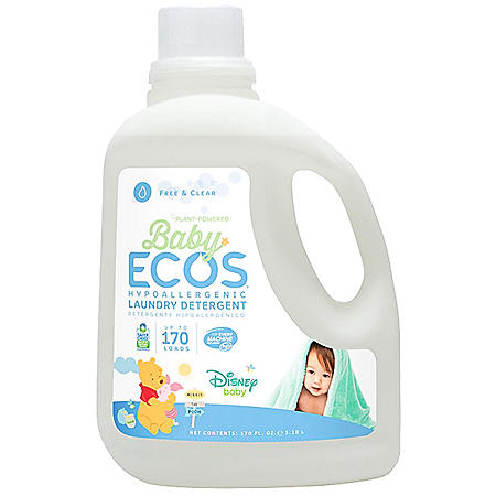 Baby Ecos Liquid Laundry Detergent, Disney - Free and Clear (170 fl. oz.)