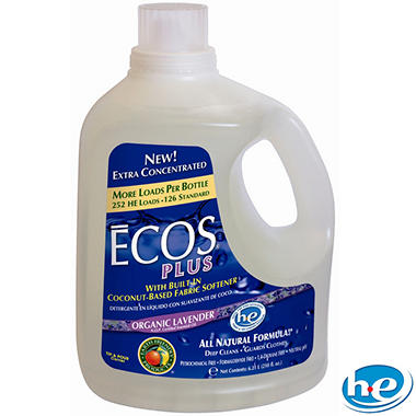 Ecos Plus Liquid Laundry Detergent Lavender - 210 oz. - 252 loads
