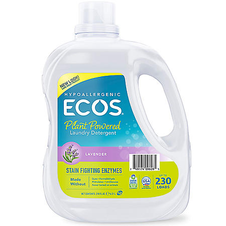ECOS Plus with Stain-Fighting Enzymes Laundry Detergernt - 210 fl. oz.