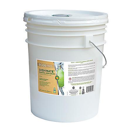ECOS ProLine DishMate Manual Dishwashing Liquid, 5 gallons, Pear fragrance