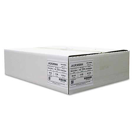 Jaguar Plastics - Repro Low-Density Can Liners, 38 x 58, Black -  100/Carton