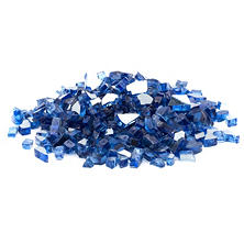 10 lb. Cobalt Blue Reflective Tempered Fire Glass