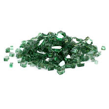 25 lb. Green Reflective Tempered Fire Glass