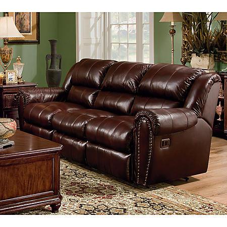 Lane Sidney Leather Double Reclining Sofa - Sam\'s Club