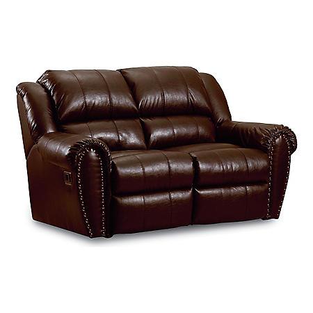 Lane Furniture Steve Double Reclining Top Grain Leather
