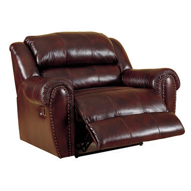 Lane Sidney Leather Reclining Snuggler