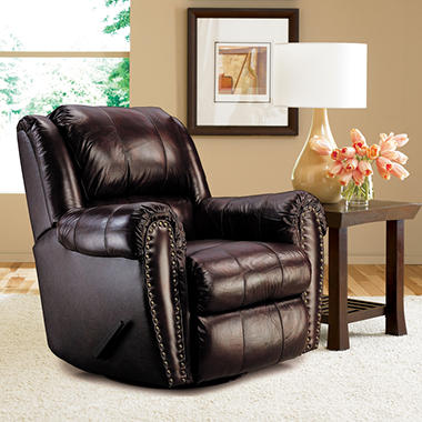 Lane Sidney Leather Reclining Glider