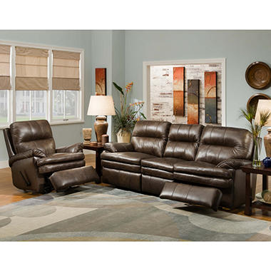 Daxton Motion Leather Sofa Set 2 Pc